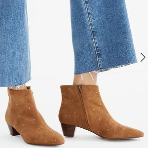 {Madewell} Bea Boot in Embroidered Suede Size 6.5